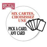 Six Cartes choisissez UNE