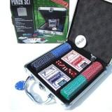 Estuche aluminio poker 100 fichas