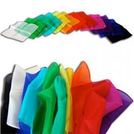 3 Silk scarf hankies