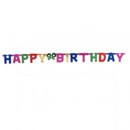 Happy Birthday Banner with attached letters