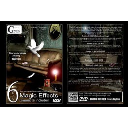 Six Magic Effects Gimmicks Included by M. Chatelain