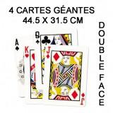 LOT de 4 CARTES GÉANTES 44.5 X 31.5 CM