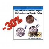 Euro scotch and soda (magnetic) - 1 Euro - 50 cents Euro