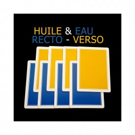 Huile et Eau RECTO-VERSO par Philippe Molina