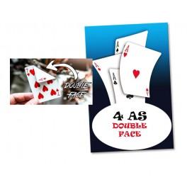4 As double-face en cartes Bicycle