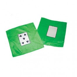 Two Silks, one of a 5 of spades and one blankcard