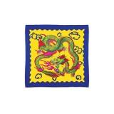 Foulard Soie carte Dragon Chinois 30 cm X 30 cm