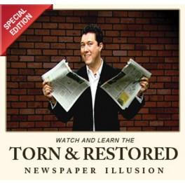DVD Torn & Restored Newspaper Illusion